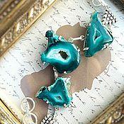 Украшения handmade. Livemaster - original item Bracelet Geode agate sea green. Handmade.