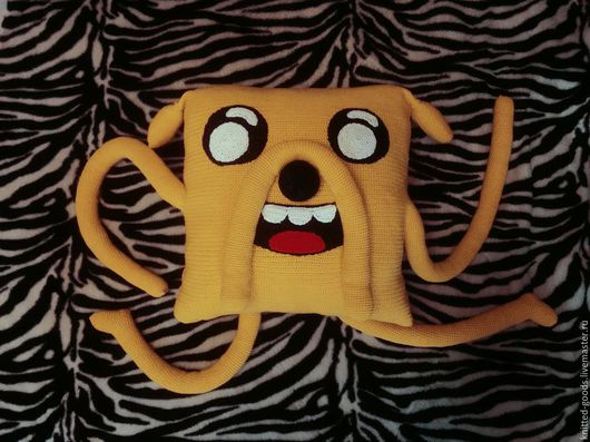 """Текстиль, ковры ручной работы. Ярмарка Мастеров - ручная работа. Купить Подушка """"Джейк"""". Handmade. Желтый, вязаная подушка"""