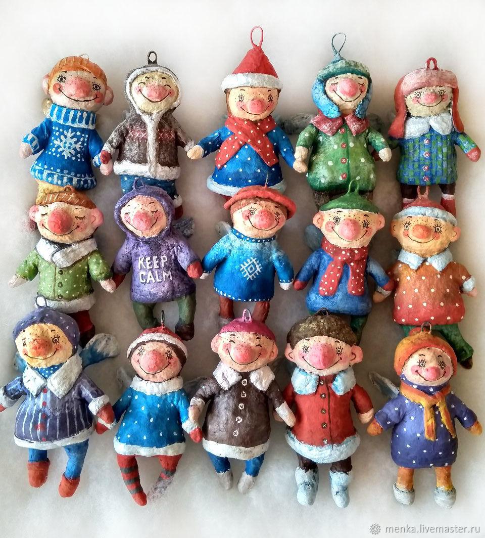 Ангелочки из ваты на заказ, Елочные игрушки, Минск,  Фото №1