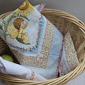 """Куклы и игрушки ручной работы. Ярмарка Мастеров - ручная работа Постельное белье для куклы """"Ангелочек Рыжик"""". Handmade."""