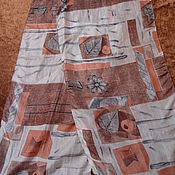 Винтаж handmade. Livemaster - original item Scarf with print,100% silk,India. Handmade.