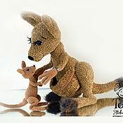 Куклы и игрушки handmade. Livemaster - original item Kangaroo - the tenderness of Savannah. Handmade.