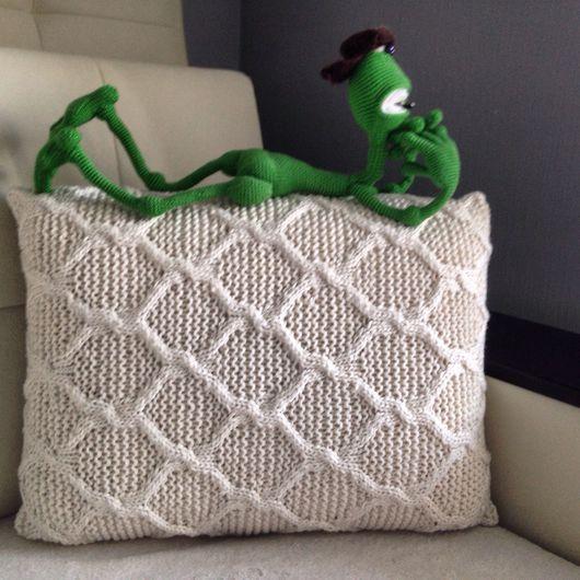 Текстиль, ковры ручной работы. Ярмарка Мастеров - ручная работа. Купить Вязаная наволочка. Handmade. Вязаная наволочка, красивый подарок