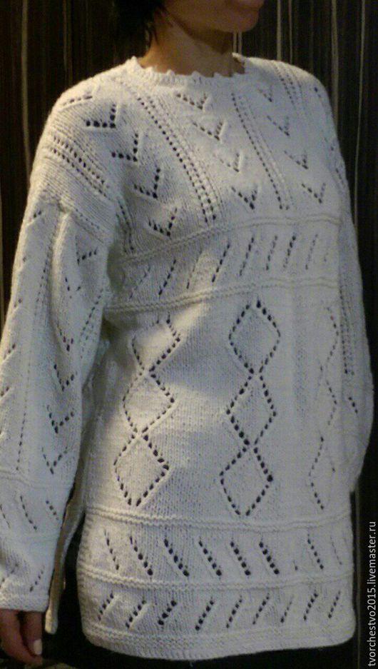 Кофты и свитера ручной работы. Ярмарка Мастеров - ручная работа. Купить ажурная кофточка. Handmade. Белый, Кофточка вязаная, акрил