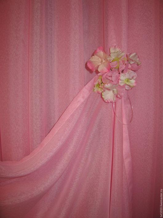 """Текстиль, ковры ручной работы. Ярмарка Мастеров - ручная работа. Купить магнит для штор """"Гортензия"""". Handmade. Бледно-розовый"""