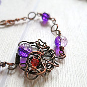 Украшения handmade. Livemaster - original item Witch`s riddle bracelet in wire wrap style made of wire for women. Handmade.
