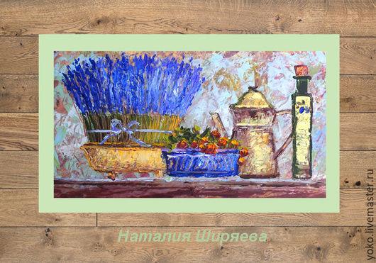 """Картины цветов ручной работы. Ярмарка Мастеров - ручная работа. Купить """"Натюрморт с Лавандой"""" картина маслом Прованс. Handmade."""