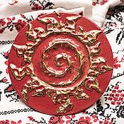 Русский стиль ручной работы. Ярмарка Мастеров - ручная работа Оберег для дома настенный Спираль золото. Handmade.