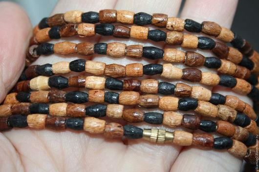 Для украшений ручной работы. Ярмарка Мастеров - ручная работа. Купить Деревянные бусины, нить 40 см, Индия. Handmade.