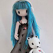 Куклы и игрушки ручной работы. Ярмарка Мастеров - ручная работа Девочка и мишка - авторская работа по картинке С. Вулкотт, вариант 2. Handmade.