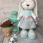 Куклы и игрушки ручной работы. Ярмарка Мастеров - ручная работа Зайка с собачкой. Handmade.
