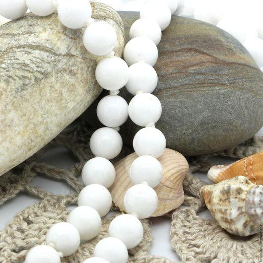 Для украшений ручной работы. Ярмарка Мастеров - ручная работа. Купить Агат белый бусины шар 8мм - арт.9-21. Handmade.