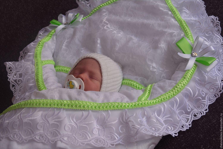 Кружевной уголок для новорожденного на выписку