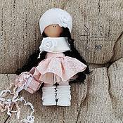 """Тыквоголовка ручной работы. Ярмарка Мастеров - ручная работа Кортни. Текстильная интерьерная кукла (""""клубничный зефир""""). Handmade."""