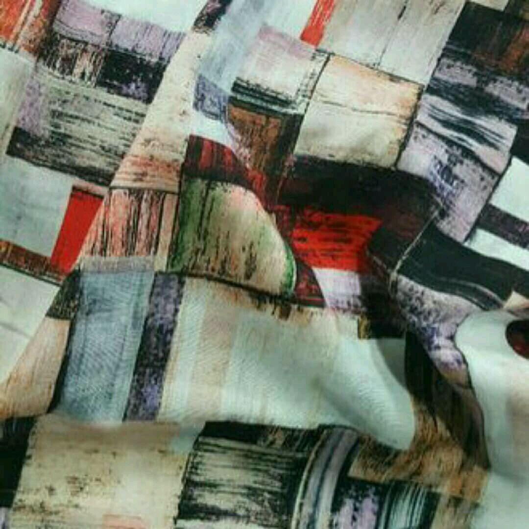 Ткань штапель принт 3D , арт.  ФА 05, Ткани, Москва,  Фото №1