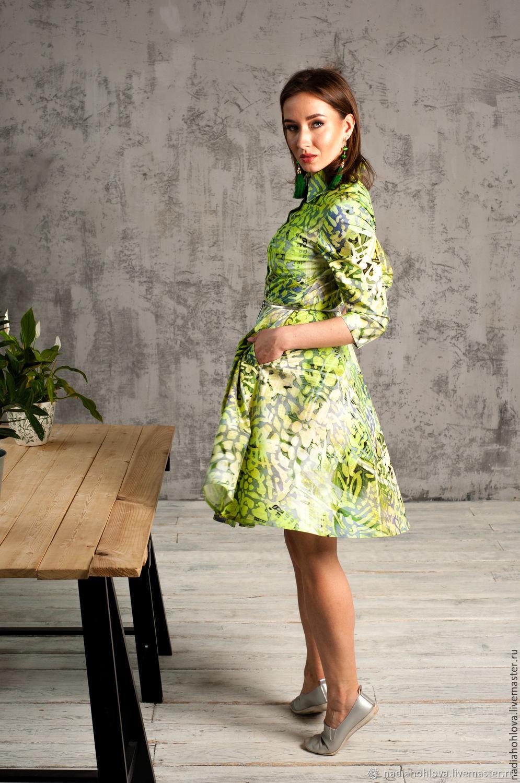 """Платья ручной работы. Ярмарка Мастеров - ручная работа. Купить Платье-халат """"Камуфляж"""". Handmade. Лето, платье-халат"""