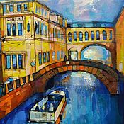 Картины и панно handmade. Livemaster - original item The picture of urban landscape Peter the canals of St. Petersburg. Handmade.