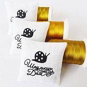 Сувениры и подарки handmade. Livemaster - original item Sachet embroidered with Your logo. Handmade.