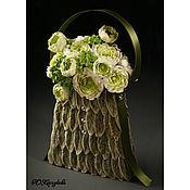 Свадебный салон ручной работы. Ярмарка Мастеров - ручная работа Сумочка невесты с ранункулюсами. Handmade.