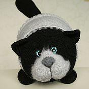 Куклы и игрушки handmade. Livemaster - original item Soft toy pillow cat Obormot black. Handmade.