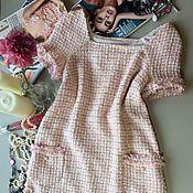 Одежда ручной работы. Ярмарка Мастеров - ручная работа маленькое розовое платье Шанель (Скидка). Handmade.