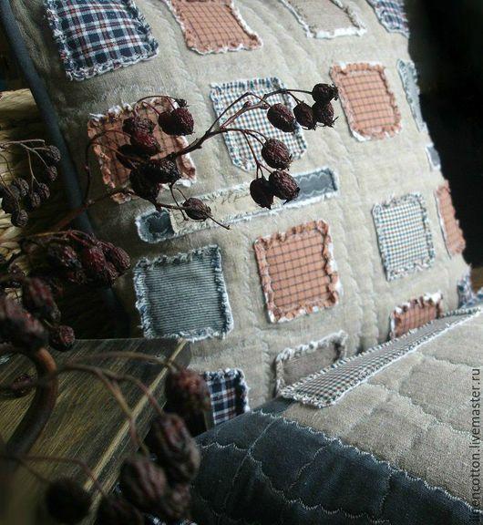 """Текстиль, ковры ручной работы. Ярмарка Мастеров - ручная работа. Купить """"Северный остров"""" лоскутные наволочки. Handmade. Серый, Шотландия"""