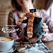 Мягкие игрушки ручной работы. Ярмарка Мастеров - ручная работа Коты пухлики, разные. Handmade.