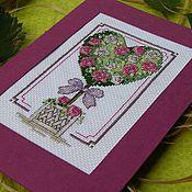 """Открытки ручной работы. Ярмарка Мастеров - ручная работа открытки """"Любовные деревца"""". Handmade."""