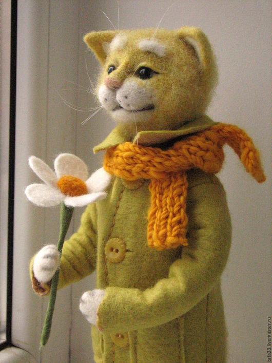 Игрушки животные, ручной работы. Ярмарка Мастеров - ручная работа. Купить Солнечный кот.Игрушка из шерсти.. Handmade. Кот