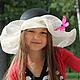 """Шляпы ручной работы. Детская летняя шляпа """"Le vol du papillon"""" (Полёт бабочки). Наталья Прокофьева (la-magie-spb). Ярмарка Мастеров."""