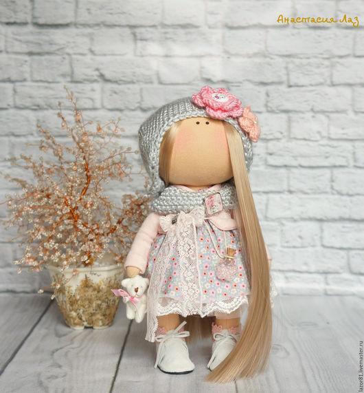 Коллекционные куклы ручной работы. Ярмарка Мастеров - ручная работа. Купить Леди в сером. Handmade. Серый, интерьерное украшение