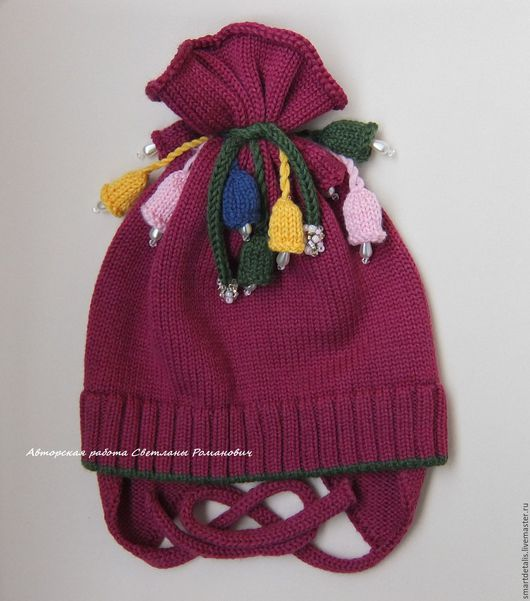 Шапки и шарфы ручной работы. Ярмарка Мастеров - ручная работа. Купить Вязаная мериносовая шапочка для девочки. Handmade. Шапка
