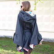 Одежда ручной работы. Ярмарка Мастеров - ручная работа Облегченное пончо с капюшоном. Handmade.
