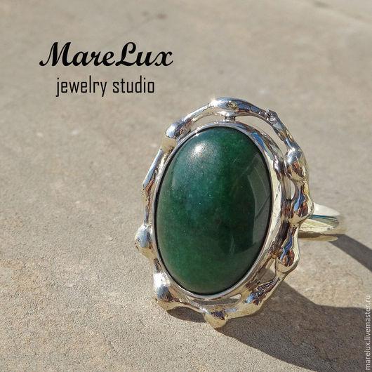 """Кольца ручной работы. Ярмарка Мастеров - ручная работа. Купить Кольцо """"Зеленый Омут"""". Handmade. Тёмно-зелёный"""