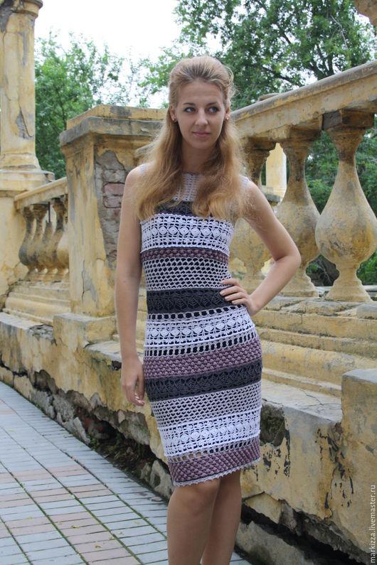 Платья ручной работы. Ярмарка Мастеров - ручная работа. Купить Латте. Handmade. Комбинированный, платье из хлопка