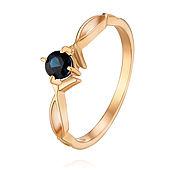 Украшения handmade. Livemaster - original item 585 gold ring with natural sapphire. Handmade.