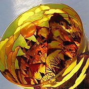 """Для дома и интерьера ручной работы. Ярмарка Мастеров - ручная работа Ваза янтарная""""Сказочные замки"""" - 2. Handmade."""