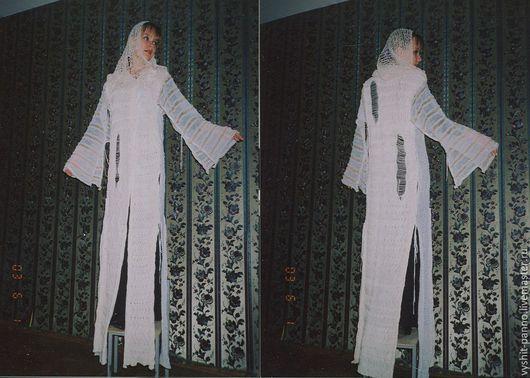 Верхняя одежда ручной работы. Ярмарка Мастеров - ручная работа. Купить летнее пальто. Handmade. Белый, вязаное пальто