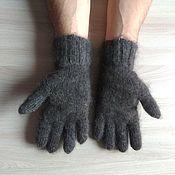 Аксессуары ручной работы. Ярмарка Мастеров - ручная работа Мужские пуховые перчатки. Handmade.