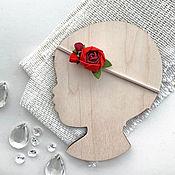 Работы для детей, handmade. Livemaster - original item Patch Red peony felt. Handmade.
