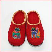 """Обувь ручной работы. Ярмарка Мастеров - ручная работа Тапочки """" Котики"""". Handmade."""