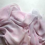 Аксессуары ручной работы. Ярмарка Мастеров - ручная работа Шарф Вечернее облако шелковый. Handmade.