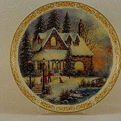 Посуда handmade. Livemaster - original item Plate wall Christmas 1. Handmade.