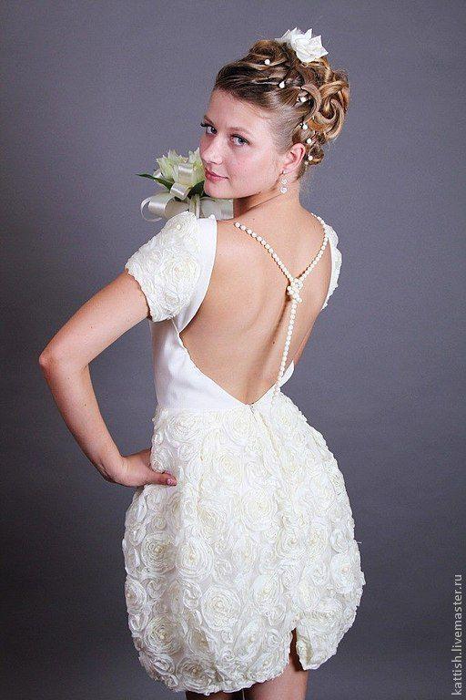 Одежда и аксессуары ручной работы. Ярмарка Мастеров - ручная работа. Купить Свадебное платье. Handmade. Белый, свадьба, ручная вышивка