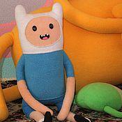 Куклы и игрушки ручной работы. Ярмарка Мастеров - ручная работа Мягкая игрушка Финн (Finn) из Время приключений (Adventure Time). Handmade.