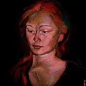 Картины и панно ручной работы. Ярмарка Мастеров - ручная работа портрет девушки пастель. Handmade.