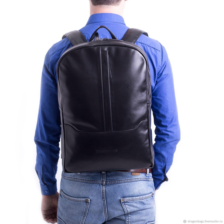 Backpack leather male 'Cruz' (Black), Backpacks, Yaroslavl,  Фото №1