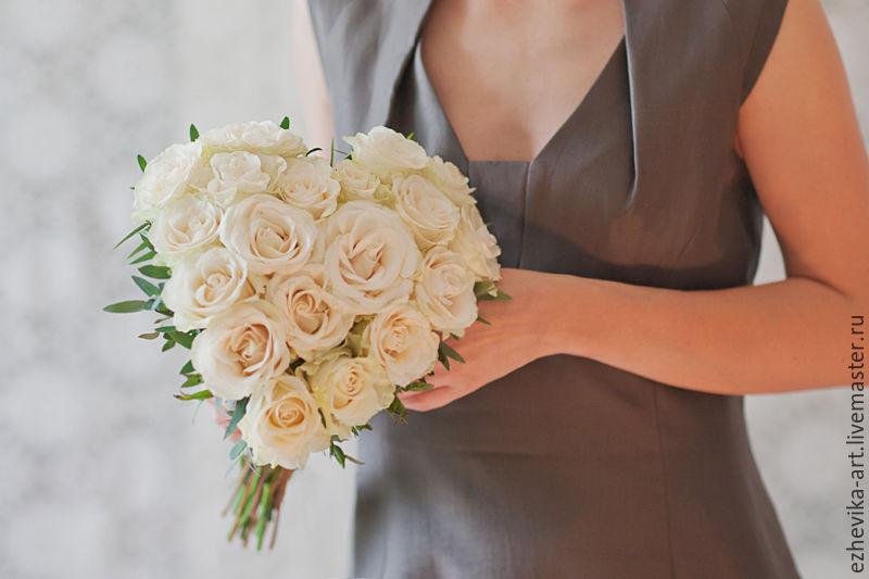 Купить цветы, букет невесты сердцем