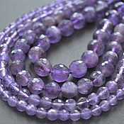 Материалы для творчества handmade. Livemaster - original item Amethyst faceted beads 5,6,8,10mm. Handmade.