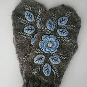 Аксессуары handmade. Livemaster - original item Mittens feather Sparkling snow. Handmade.